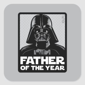 Darth Vader Comic | Father of the Year Square Sticker