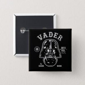 Darth Vader Dark Side Badge Button