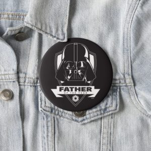 """Darth Vader """"Father of the Year"""" Crest Button"""