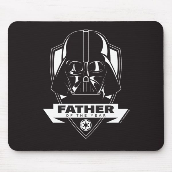 """Darth Vader """"Father of the Year"""" Crest Mouse Pad"""