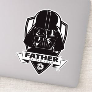 """Darth Vader """"Father of the Year"""" Crest Sticker"""