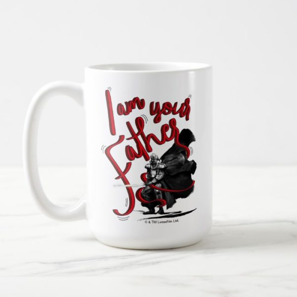 "Darth Vader ""I Am Your Father"" Illustration Coffee Mug"