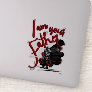 "Darth Vader ""I Am Your Father"" Illustration Sticker"