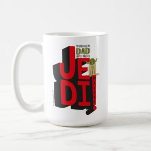 "Father's Day | ""Jedi Master"" Yoda Graphic Coffee Mug"