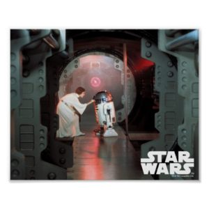 Leia and R2-D2 Secret Message Scene Poster