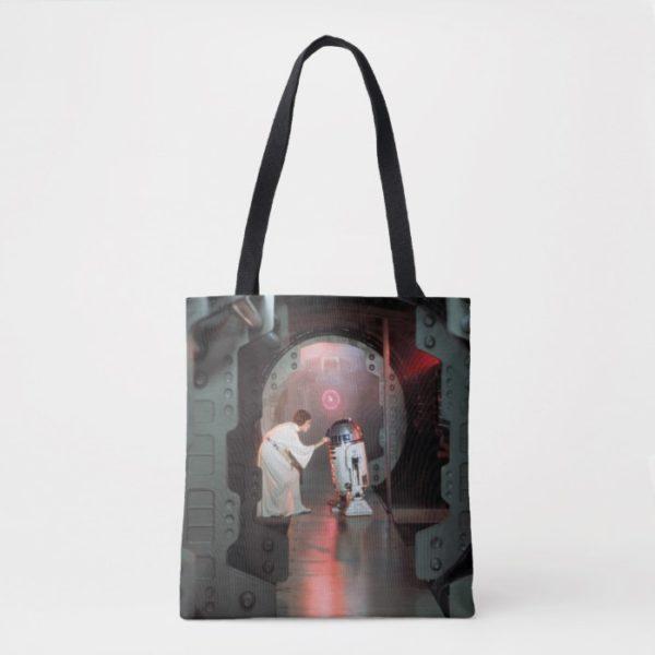 Leia and R2-D2 Secret Message Scene Tote Bag