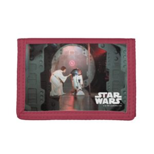 Leia and R2-D2 Secret Message Scene Trifold Wallet