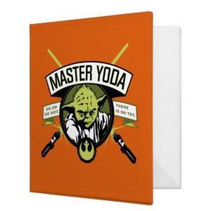 Master Yoda Lightsaber Badge 3 Ring Binder