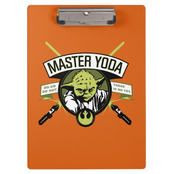 Master Yoda Lightsaber Badge Clipboard