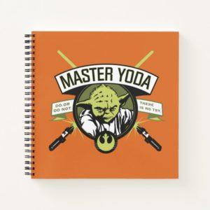 Master Yoda Lightsaber Badge Notebook