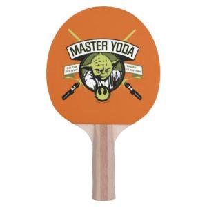 Master Yoda Lightsaber Badge Ping Pong Paddle