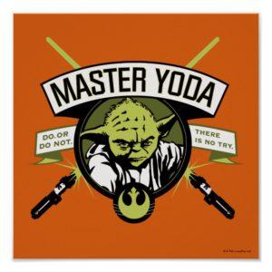 Master Yoda Lightsaber Badge Poster
