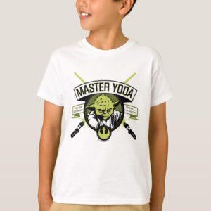 Master Yoda Lightsaber Badge T-Shirt