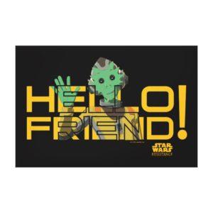 Neeku Vozo | Hello Friend! Canvas Print