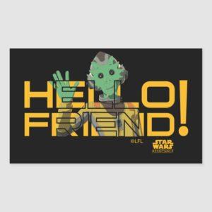 Neeku Vozo | Hello Friend! Rectangular Sticker