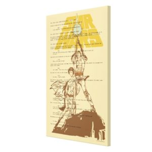 Princess Leia & Luke Skywalker | Unscripted Poster Canvas Print
