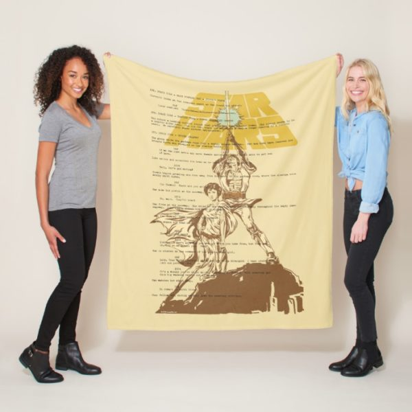 Princess Leia & Luke Skywalker | Unscripted Poster Fleece Blanket