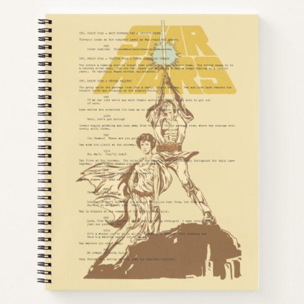 Princess Leia & Luke Skywalker   Unscripted Poster Notebook