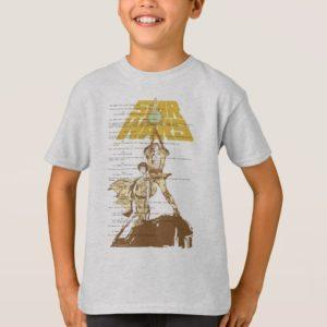 Princess Leia & Luke Skywalker | Unscripted Poster T-Shirt