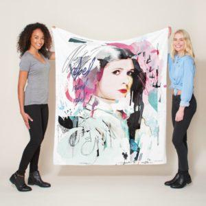 Princess Leia | Rebel Collage Fleece Blanket