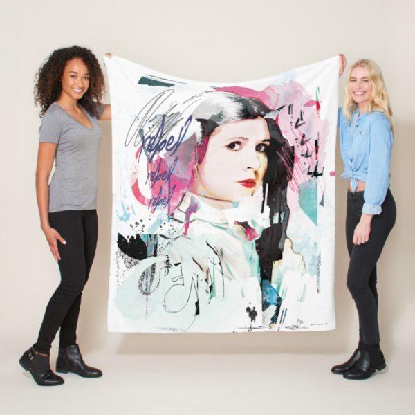 Princess Leia   Rebel Collage Fleece Blanket