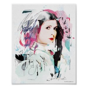 Princess Leia | Rebel Collage Poster