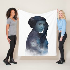 Princess Leia | Space Silhouette Fleece Blanket