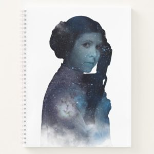 Princess Leia | Space Silhouette Notebook