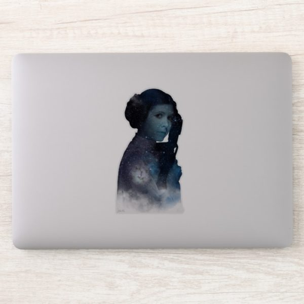 Princess Leia | Space Silhouette Sticker