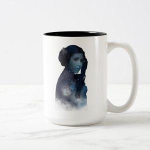 Princess Leia | Space Silhouette Two-Tone Coffee Mug
