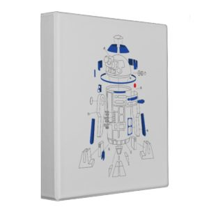 R2-D2 Exploded View Drawing 3 Ring Binder