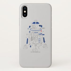 R2-D2 Exploded View Drawing Case-Mate iPhone Case