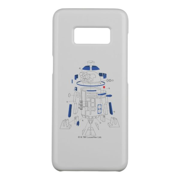 R2-D2 Exploded View Drawing Case-Mate Samsung Galaxy S8 Case