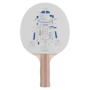 R2-D2 Exploded View Drawing Ping Pong Paddle