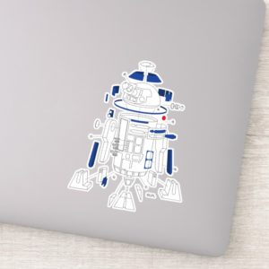 R2-D2 Exploded View Drawing Sticker
