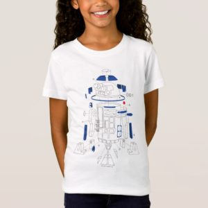 R2-D2 Exploded View Drawing T-Shirt