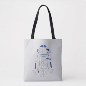 R2-D2 Exploded View Drawing Tote Bag