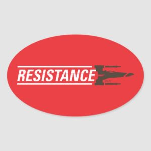 Resistance X-Wing Typography Oval Sticker