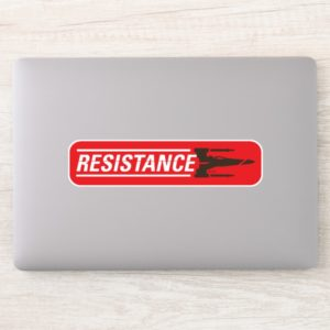 Resistance X-Wing Typography Sticker
