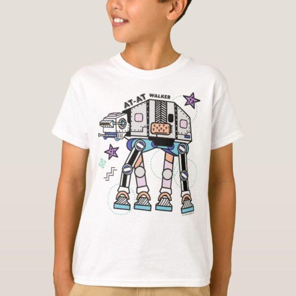 Retro Stylized AT-AT Walker T-Shirt