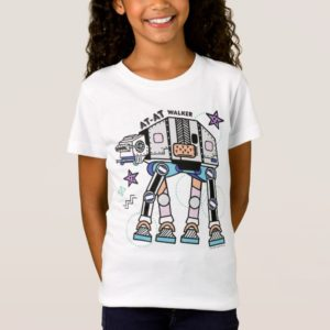 Retro Stylized AT-AT Walker T-Shirt