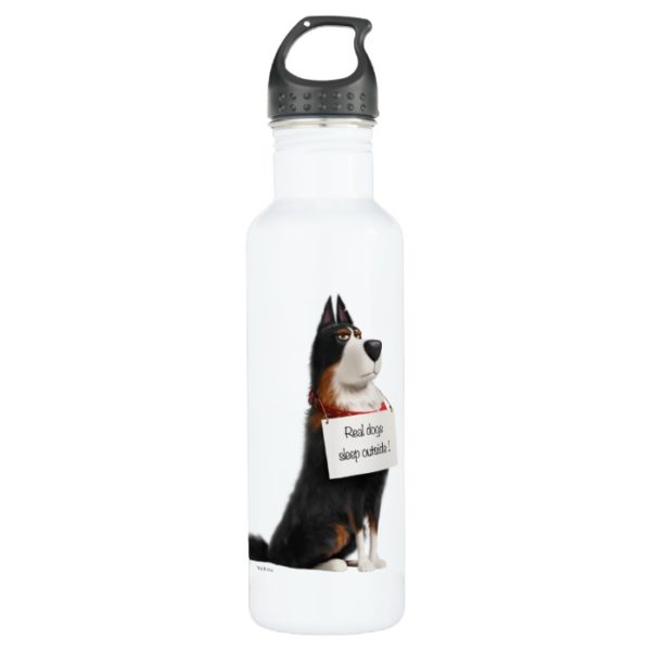 Rooster - Real Dogs Sleep Outside Stainless Steel Water Bottle