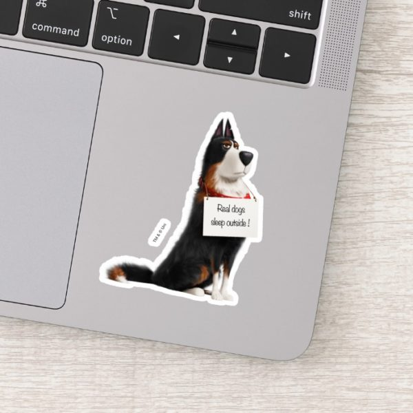 Rooster - Real Dogs Sleep Outside Sticker