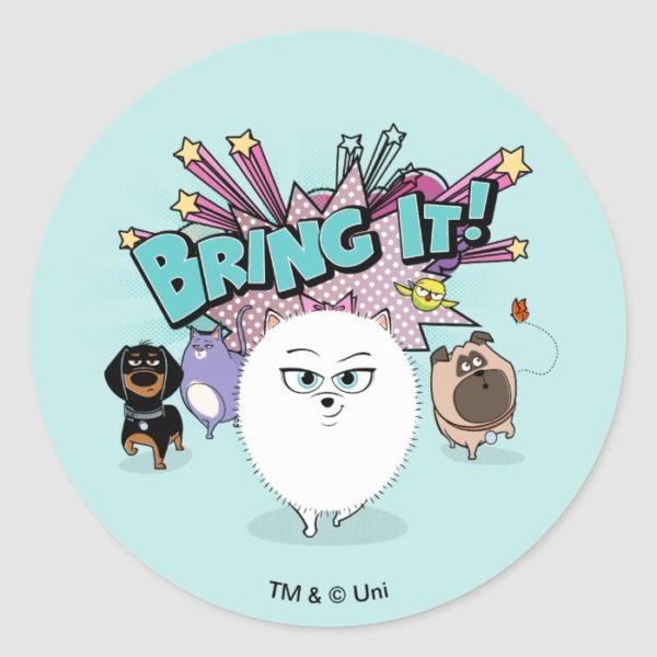 Secret Life of Pets   Bing It! Classic Round Sticker