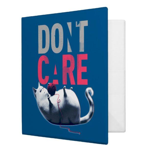 Secret Life of Pets - Chloe   Don't Care 3 Ring Binder