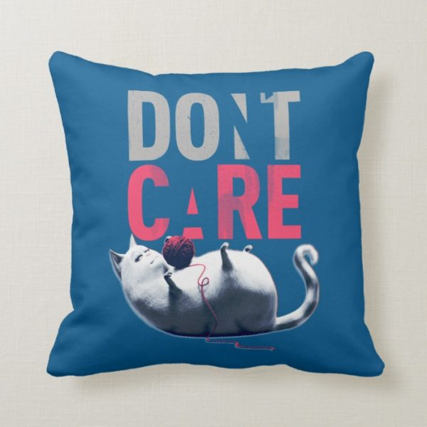 Secret Life of Pets - Chloe   Don't Care Throw Pillow