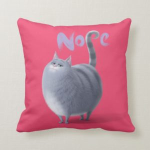 Secret Life of Pets - Chloe | Nope Throw Pillow