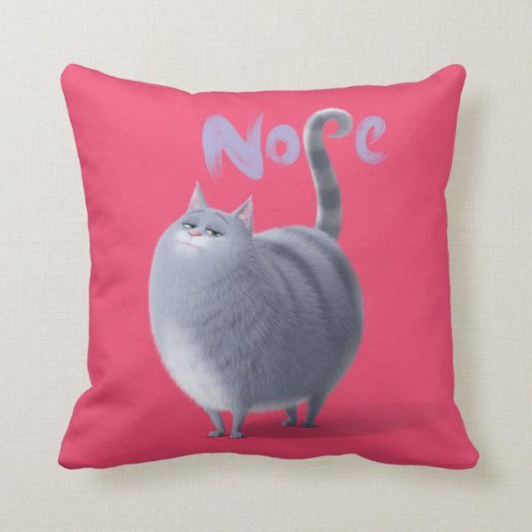 Secret Life of Pets - Chloe | Nope Throw Pillow
