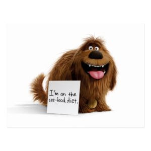 Secret Life of Pets | Duke See-Food Diet Postcard