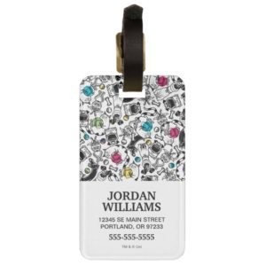 Secret Life of Pets Happy Pattern Bag Tag